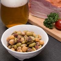 カネハツ 手を汚さずに食べられる おつまみ豆 うま辛Beans ベーコン ペッパー〔60g×6〕