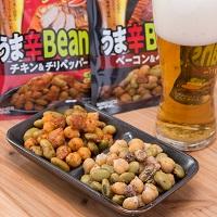 カネハツ おつまみ豆 うま辛Beans 2種 セット〔ベーコン ペッパー60g×3・チキン チリペッパー60g×3〕