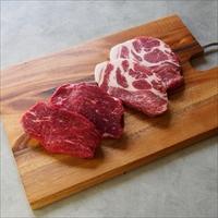 みんなの会社 前田牧場の赤身牛 本格・熟成肉 食べ比べステーキギフト〔牛肉150g×2・豚肉150g×2〕