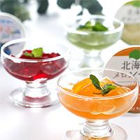 江戸屋 北海道フルーツゼリー3種12個セット〔赤肉メロン×4・青肉メロン×4・ハスカップ×4〕