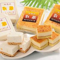 乳蔵北海道ケーキ2種 セット〔レアチーズケーキ×2・焼きプリンケーキ×2〕