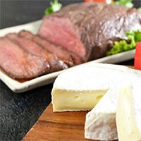 北海道十勝ローストビーフとカマンベールセット〔ローストビーフ・ソース・カマンベールチーズ〕