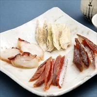 北海道珍味セット 〔鮭スティック45g、みりん鱈85g、むきこまい45g、燻製たこ45g〕 珍味 乾物 北海道 江戸屋