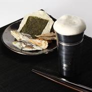 口当たりの良さは抜群!錫の一口ビールsazanami(大) | 錫光・埼玉県