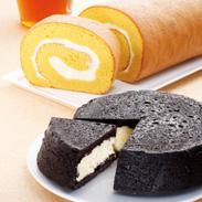 こだわりが詰まったまっ黒チーズケーキ&和三盆ロールケーキセット | ラ・ファミーユ・香川県