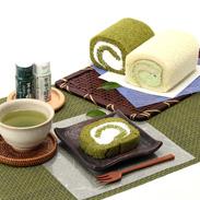 ティータイムのお供にどうぞ  茶の実ロールケーキセット | 株式会社野口徳太郎商店・茨城県