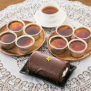 第3回ニッポン全国おやつランキングにてグランプリ獲得の「ジャージー乳のアイスブリュレ」と、「濃厚キャラメル」の詰め合わせとロールケーキをセットにしました。「アイスブリュレ&ショコラロールセット」 スウィーツ・高知県