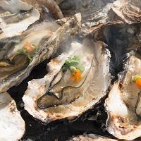 広島県産 業者直送 ぷりっと濃厚 殻付き牡蠣[加熱用]と牡蠣燻製セット〔牡蠣約100粒・燻製10粒・牡蠣ナイフ・軍手〕