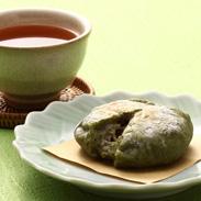 砂糖不使用 あずきの風味をひきたてる塩あん餅 『よもぎ』5個セット | 有限会社川田餅本舗・山口県