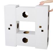 ペットオーナーと猫ちゃんが萌える! にゃんハウス(4箱連結タワータイプ) | 有限責任事業組合ヒラメック・栃木県