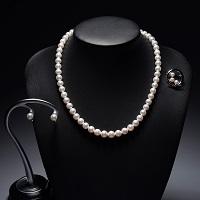 大ハタパール工業 上級花珠あこや真珠セット〔ネックレス・イヤリング・ブローチ・専用ケース・保証書〕