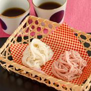 心を込めた贈りもの 紅白ハート形 手延べ素麺 | 美作そうめん山本・岡山県