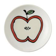カットフルーツたちと波佐見焼のステキな出逢い〈 りんご 〉浅鉢 | 有限会社福田陶器店・長崎県
