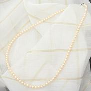 あこや真珠 ゴールドネックレス〔あこや真珠ゴールドネックレス1本(42cm)〕