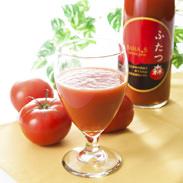 ふたつ森トマトジュース 720ml 美濃白川麦飯石株式会社 岐阜県 麦飯石水で育てられた完熟トマトを使用!100%無添加、無塩。