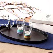 九谷和グラス 伝統工芸の新しいかたち〈 ペアショットグラス 〉こま | 清峰堂株式会社・石川県
