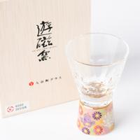 九谷和グラス〈万華鏡ショットグラス〉金花詰うすべに 清峰堂株式会社・石川県
