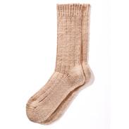手紬糸靴下〈 あしごろも 〉茶綿 株式会社益久染織研究所・奈良県