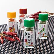 国内産うまい唐がらし ミニボトル4本セット 有限会社ヤマサン 滋賀県 無農薬・酵素栽培された素材を使用し、丁寧に手作りしました。