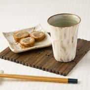 マイカップにピッタリ! 泥彩フリーカップ(白) | 俊彦窯・兵庫県