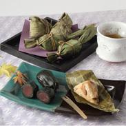 自家製笹だんごと越乃黄金豚角煮ちまきセット 有限会社やまとのうさん・新潟県