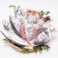 湯浅醤油の味醂干・梅塩の干物〔平アジ・丸アジ・タイ・カマス・太刀魚開き・イサギ・サバほか全10種〕