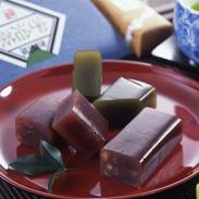 宇治茶とようかんの絶妙なコンビ! 京の一口羊羹と宇治茶