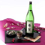 航空会社のビジネスクラス搭載された酒  清酒 純米吟醸原酒 尊皇 袋入 1.8L 山崎合資会社・愛知県
