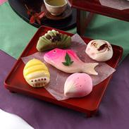 練り切りあんで作った祝い菓子 引き菓子(小) 小浜屋菓子店・新潟県