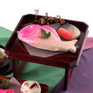 練り切りあんで作った祝い菓子 引き菓子(大) 小浜屋菓子店・新潟県
