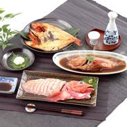 高級魚・きんき三昧 きんき姿煮と一夜干と刺身 知床工房・北海道