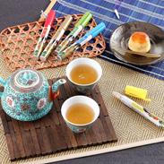ペン型の携帯粉末容器入りのお茶 好きだっ茶〔静岡一番茶、紅茶、ジャスミン茶、麦茶、ほうじ茶〕