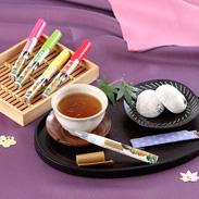 ペン型の携帯粉末容器入りのお茶 好きだっ茶〔静岡一番茶、紅茶、ルイボス茶、ジャスミン茶、ほうじ茶〕