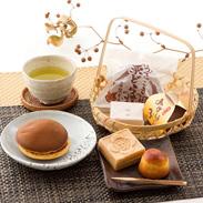 日本が誇る和菓子三種を詰め合わせ! 3店舗の銘菓詰合せ 瑞宝最中 栗一粒 みずほっ子 うでっこき栗どら焼