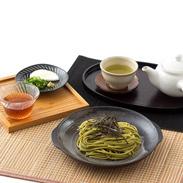 ふわっと、お茶のいい香り。 ひがしやまと茶うどんと狭山茶セット
