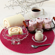 コラーゲン入りスイーツ 美白ロール&もっと美白ぷりんのセット|CAKEHOUSE Honda・長崎県