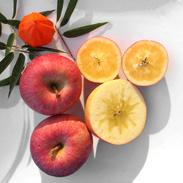 畑から直送の新鮮なりんご 無袋ふじ5kg箱詰