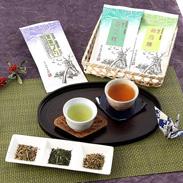 加賀百万石の伝統文化が育てた香り豊かな日本茶3種・自家焙煎!加賀棒茶・緑茶セット あずま園・石川県