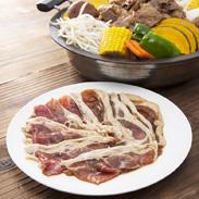 海藻ポークじんぎすかんセット 食肉工房よしやす 北海道 釧路のブランド豚を使ったご当地じんぎすかん