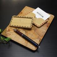 木の温もりを持ったスマートな名刺入れ 名刺ケース(All wood) WOOCA