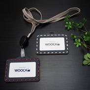 デニムと木の組み合わせが魅力的 IDカード・ケース(Denim Combination) WOOCA