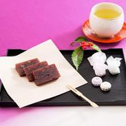奈良県最古!老舗和菓子店の和菓子 つみ小菊1箱/羊羹1本