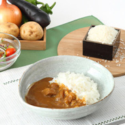 華カレー&福島県産米セット ホテル華の湯 華カレー5個+お米3合450gセット