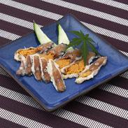 滋賀の珍味・鮒寿司のお手軽食べきりサイズ 天然ニゴロ鮒寿司スライスミニ