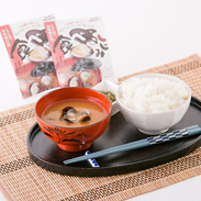 新鮮な宍道湖産大和しじみを使った 食べるしじみ1食用味噌汁セット