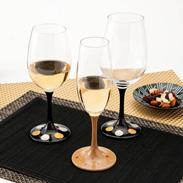 JAPAN Glass(黒漆 日月蒔絵/白漆 桜蒔絵)各SML 山久漆工(株)・福井県