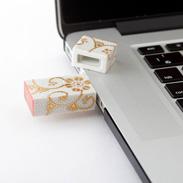 九谷焼USBメモリ 白粒 朝日電機製作所・石川県