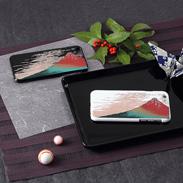 高盛り蒔絵iPhone6カバー 赤富士 朝日電機製作所・石川県