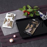 高盛り蒔絵iPhone6カバー 鯉の滝登り(ブラック、ホワイト)