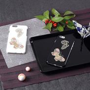 高盛り蒔絵iPhone6カバー 蝶(ブラック、ホワイト)